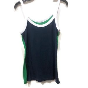 Old Navy Color Block Tank Green Navy Blue White L